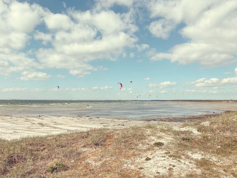 Kitesurfing på Barsebäck Strand